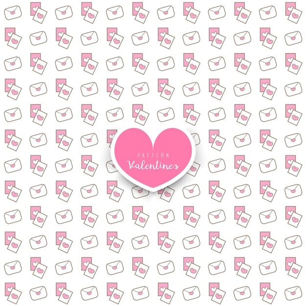Patrón transparente de corazones y letras en rosa sobre blanco ...