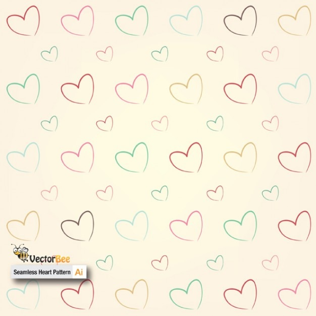 Patrón transparente con corazones | Descargar Vectores gratis