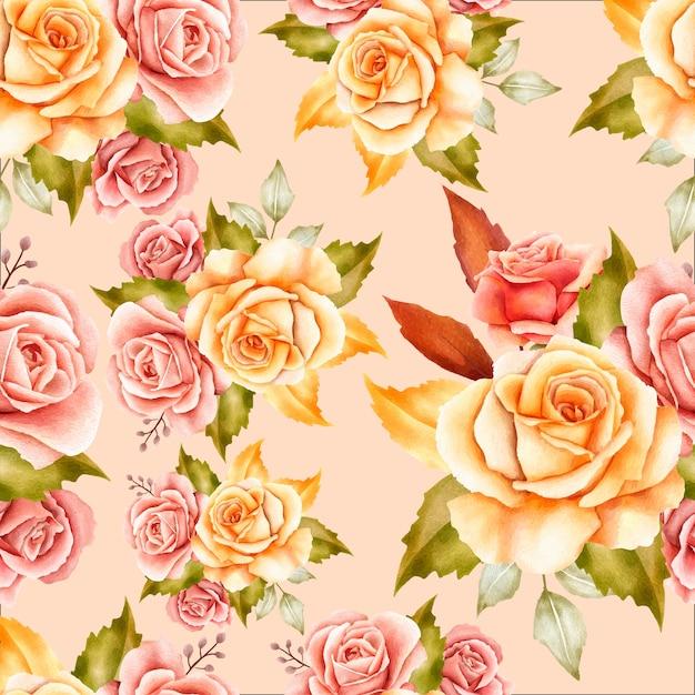 Patrón transparente floral elegante vector gratuito