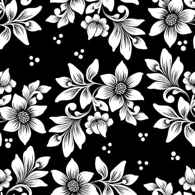 Patrón transparente de vector flor. adorno floral antiguo de lujo clásico, textura fluida para fondos de pantalla, textiles, envoltura. vector gratuito