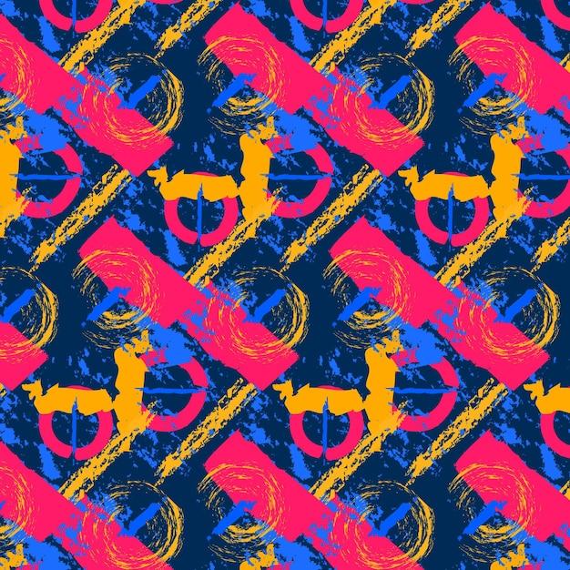 Patrón de trazo de pincel abstracto Vector Premium