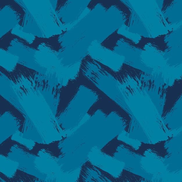 Patrón de trazo de pincel abstracto vector gratuito