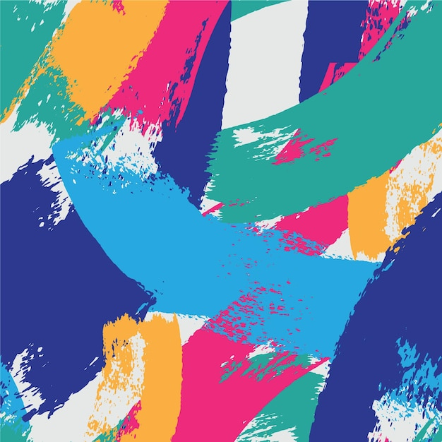 Patrón de trazo de pincel estilo abstracto vector gratuito