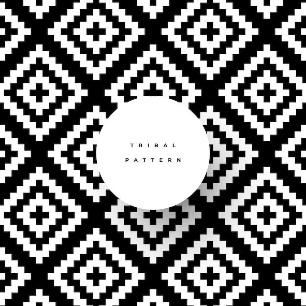 Patrón tribal de moda con formas geométricas. vector gratuito