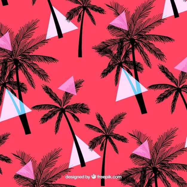 Patrón tropical elegante  con estilo vintage vector gratuito