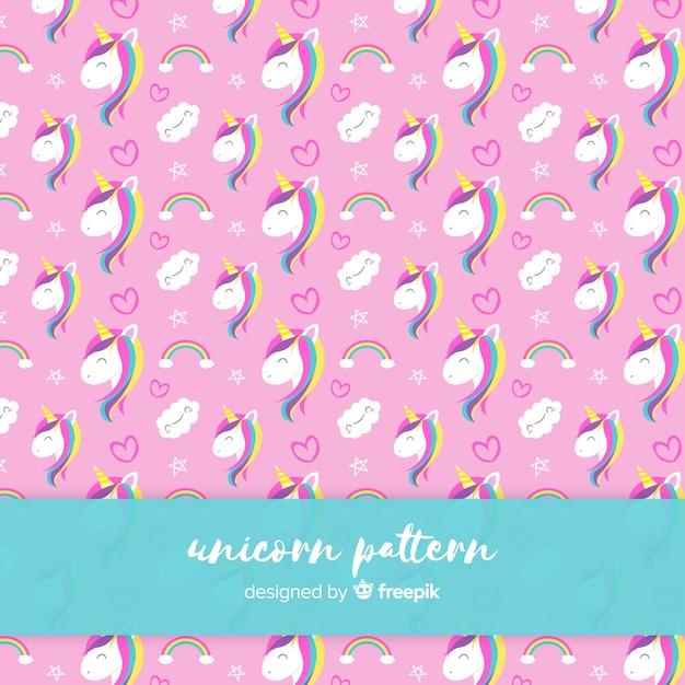 Patrón de unicornios vector gratuito