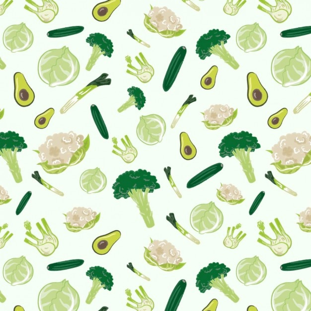 Patrón de verduras vector gratuito
