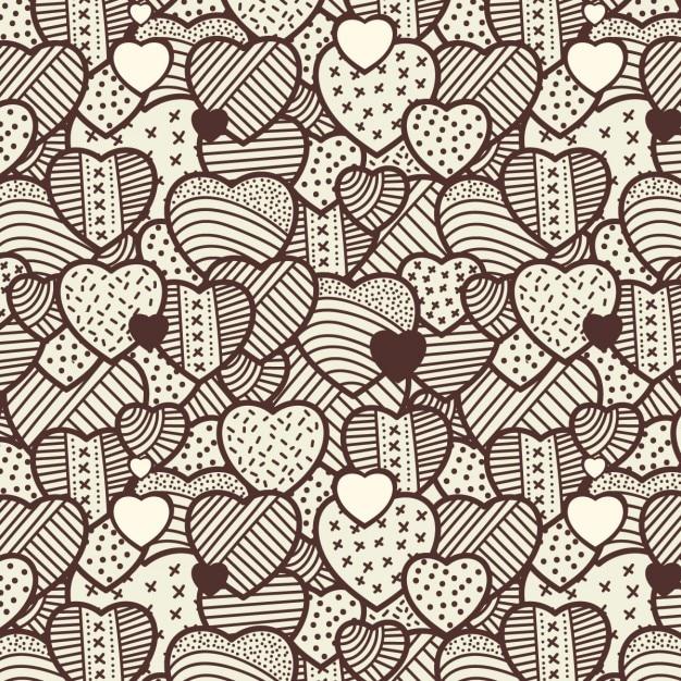Patrón vintage de corazones | Descargar Vectores gratis