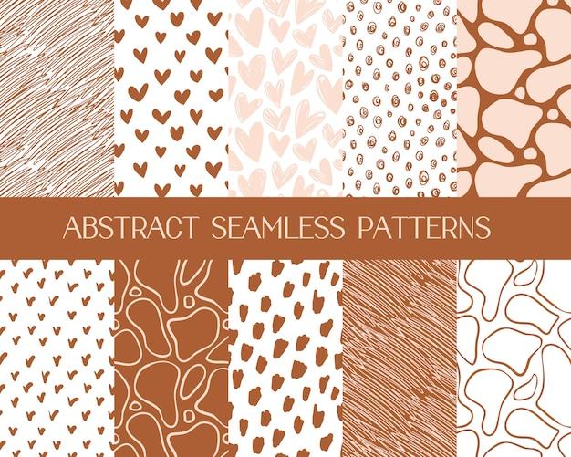 Patrones abstractos simples, fondos sin costura vector gratuito