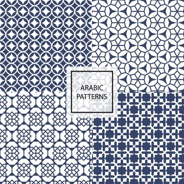 patrones arábigos estilosos | descargar vectores gratis