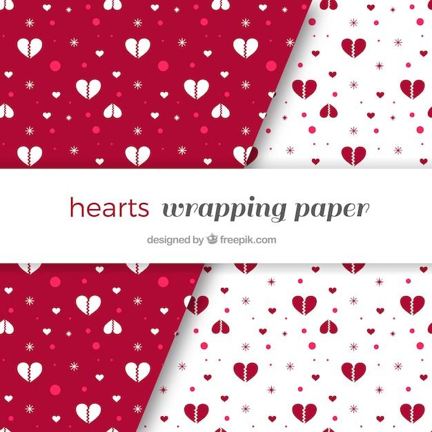 Patrones de corazones rotos | Descargar Vectores gratis
