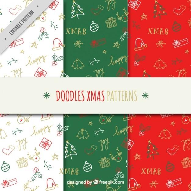 Patrones decorativos de garabatos de navidad descargar - Decorativos de navidad ...