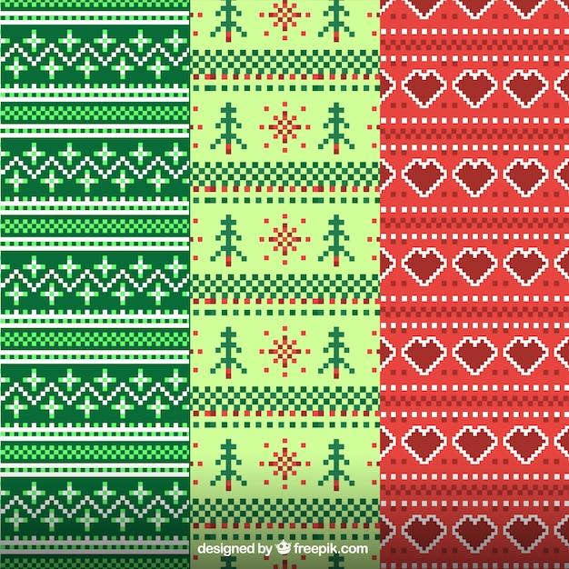 Patrones decorativos de navidad hechos de lana descargar - Decorativos para navidad ...