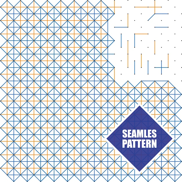 Patrones sin fisuras con puntos, cuadrados y líneas, ilustración ...