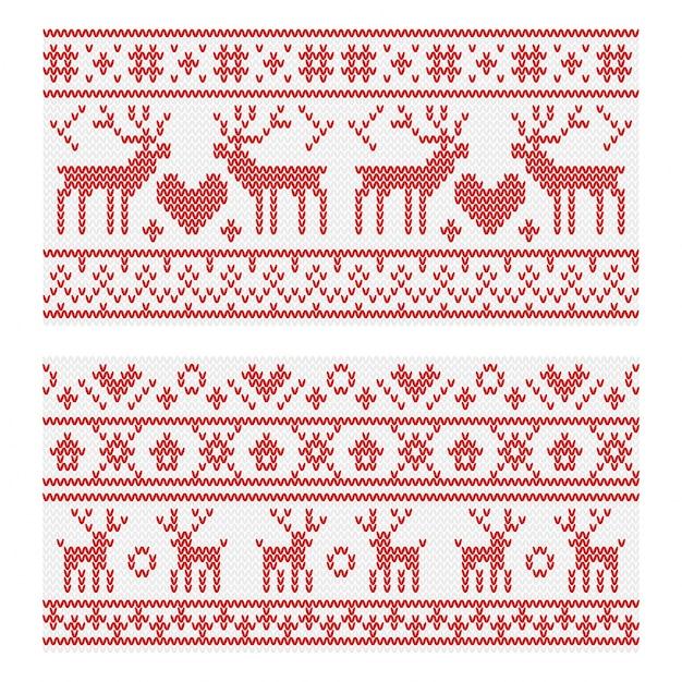 Patrones que hacen punto del invierno con los ciervos de la navidad ...