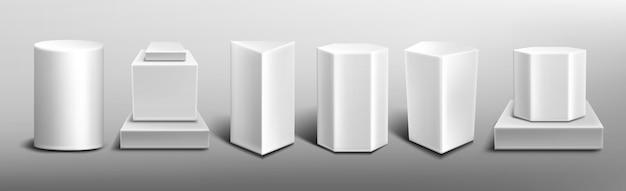 Pedestales blancos vector gratuito