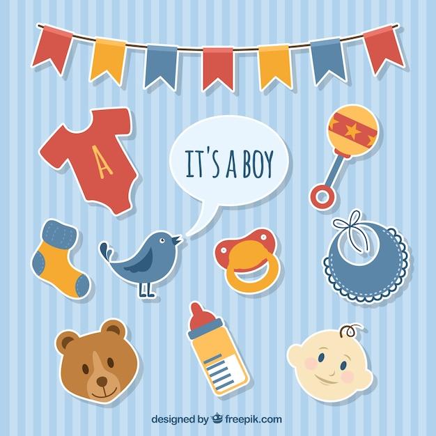 Pegatinas de beb ni o descargar vectores gratis for Pegatinas para habitacion de bebe