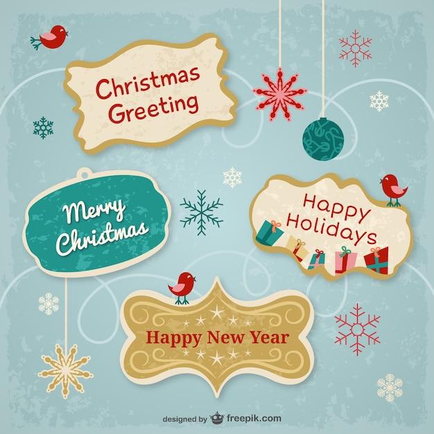 Pegatinas de buenos deseos de navidad descargar vectores - Deseos para la navidad ...