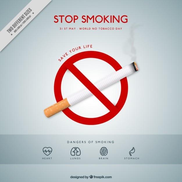 Peligros de fumar vector gratuito
