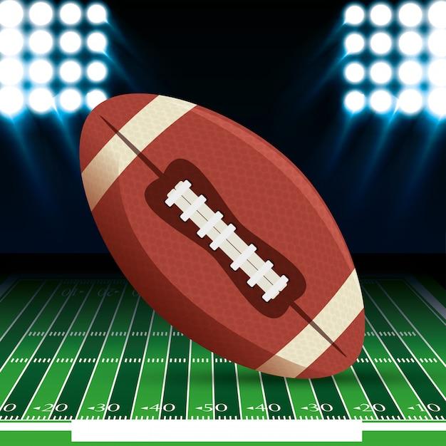 Pelota de deporte de fútbol americano vector gratuito