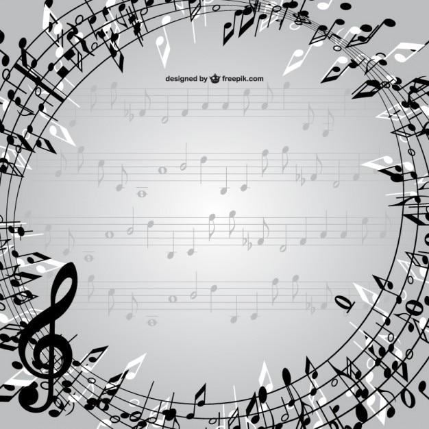 Pentagrama circular blanco y negro | Descargar Vectores gratis