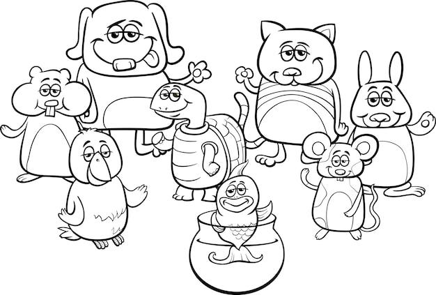 24 Animales Para Colorear Para Niños: Pequeñas Mascotas Para Colorear