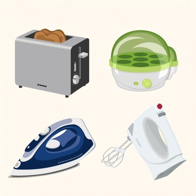 Pequeños electrodomésticos vector gratuito