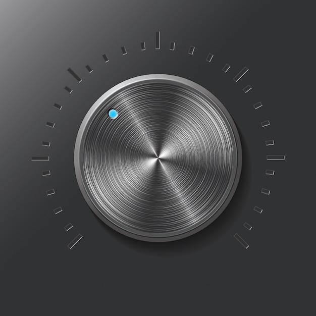 Perilla de dial. Vector Premium