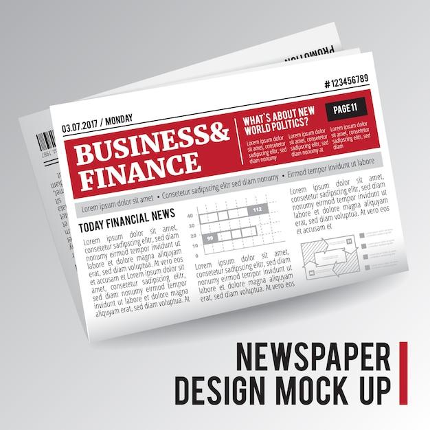 Periódico maqueta vector gratuito