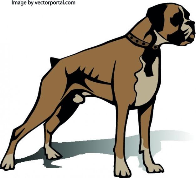 Perro Boxer Lado Descargar Vectores Gratis