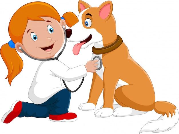 Niña Con Un Perro Animado #345212 (14) PERRO DE EXAMEN