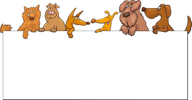 Perros con diseño de dibujos animados marco | Descargar Vectores Premium