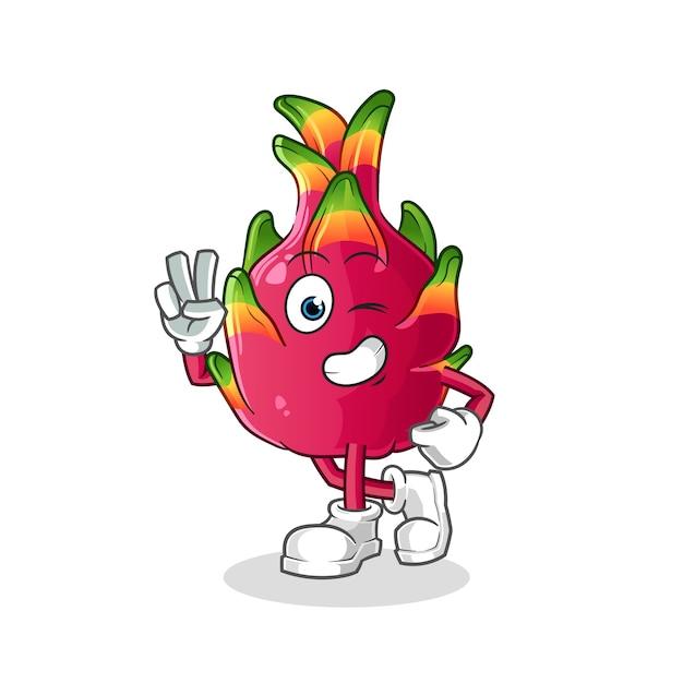 Personaje de chili joven. mascota de dibujos animados Vector Premium