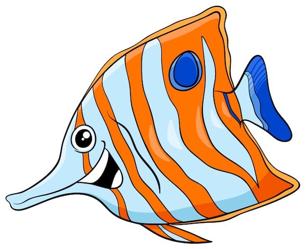 Personaje de dibujos animados pescado exótico