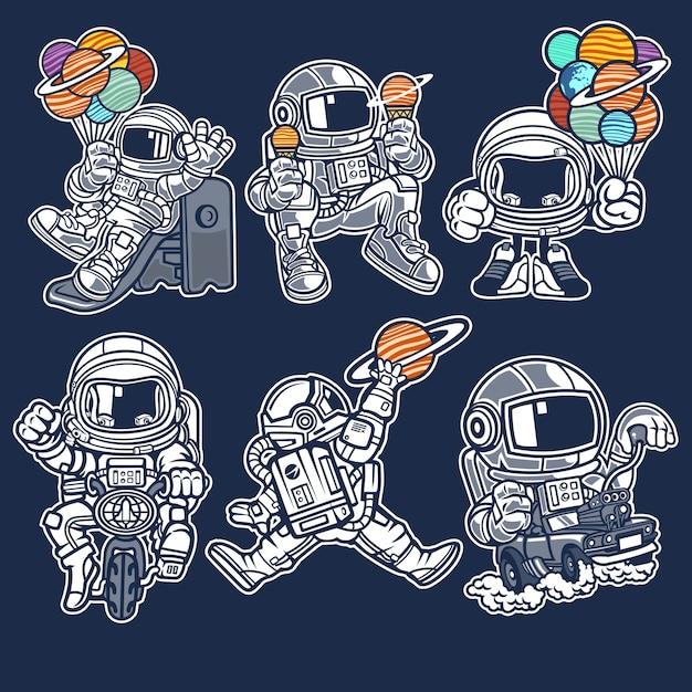 e9d78cf20e Personaje de dibujos animados astronauta | Descargar Vectores Premium