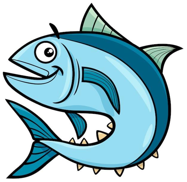 Personaje de dibujos animados de atún | Vector Premium