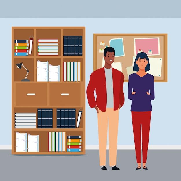 Personaje de dibujos animados de avatar de pareja vector gratuito