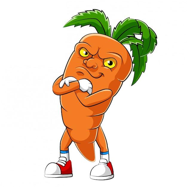 Personaje De Dibujos Animados De Una Zanahoria De Ilustracion Vector Premium La raíz comestible suele ser de color naranja, aunque. https www freepik es profile preagreement getstarted 9372158