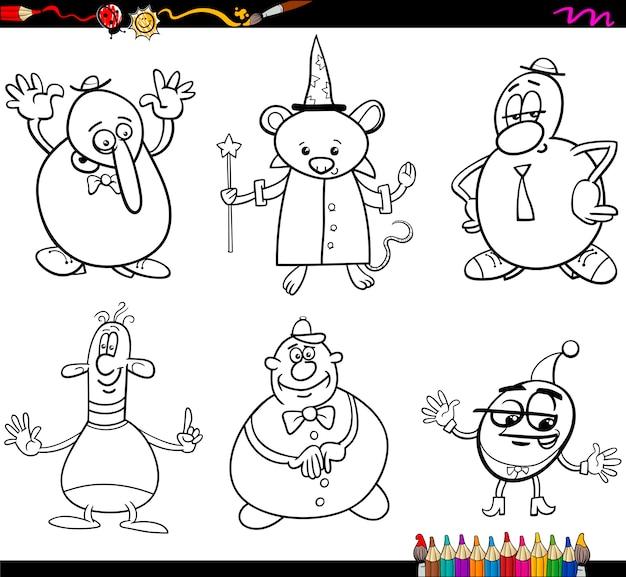 Personajes de fantasía para colorear | Descargar Vectores Premium