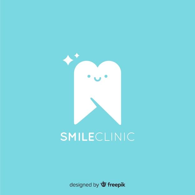Personajes de dentista en diseño plano vector gratuito