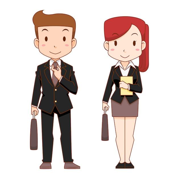 Personajes De Dibujos Animados Lindos Del Hombre Y De La