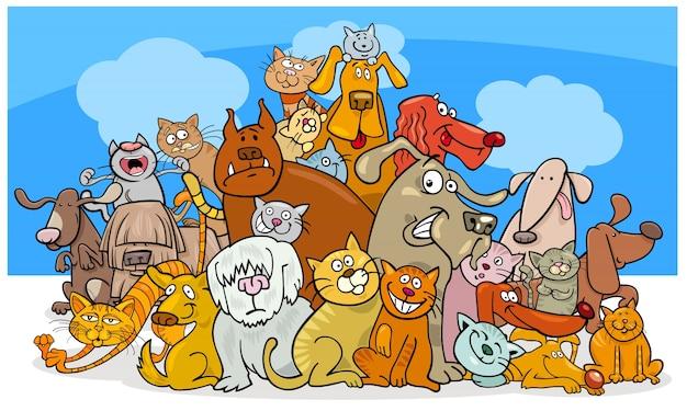 Personajes De Dibujos Animados De Perros Y Gatos