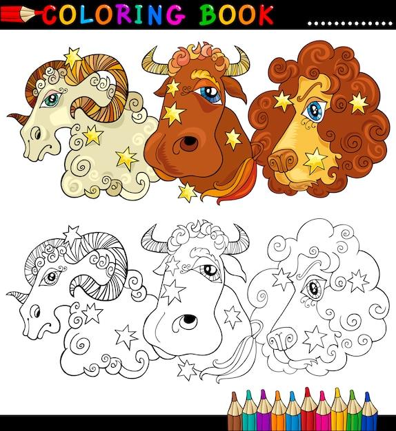 Personajes De Fantasía Animal Para Colorear Descargar Vectores Premium