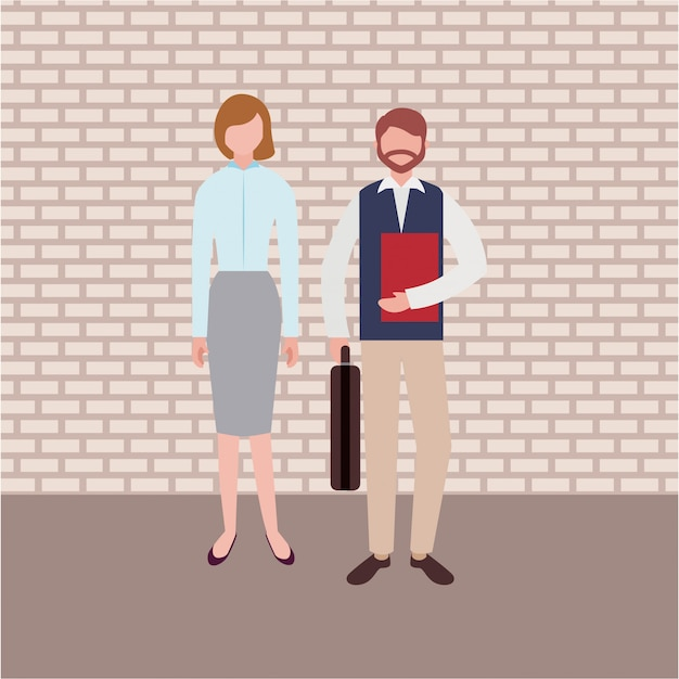 Personajes de gente de negocios vector gratuito
