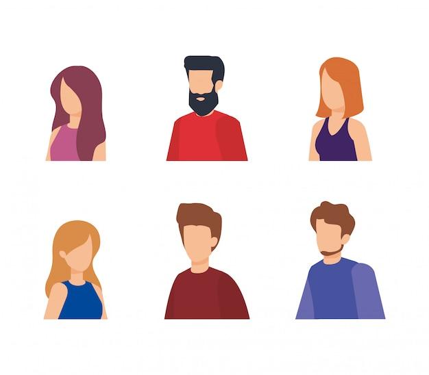 Personajes de grupo de personas vector gratuito