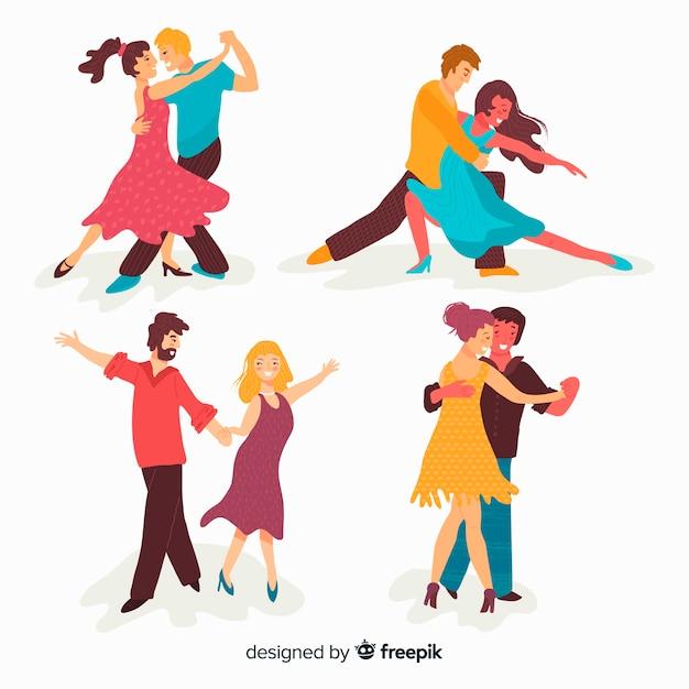 Personas bailando vector gratuito