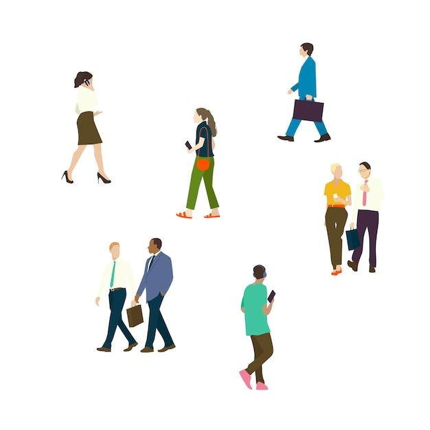 Personas ilustradas ambientadas con diversas carreras. vector gratuito