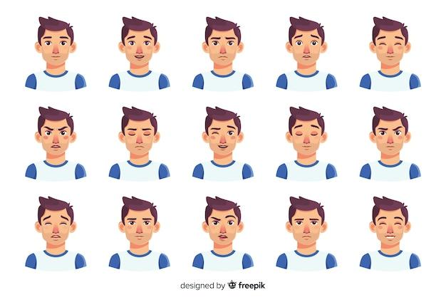 Personas mostrando emociones vector gratuito
