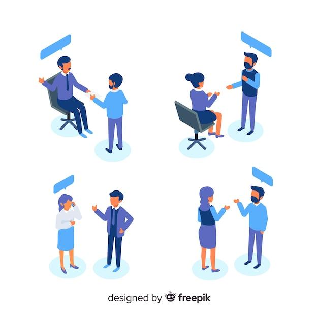 Personas en la oficina vector gratuito