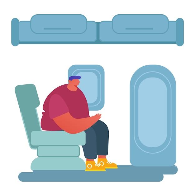 Personas que viajan por concepto de avión. Vector Premium